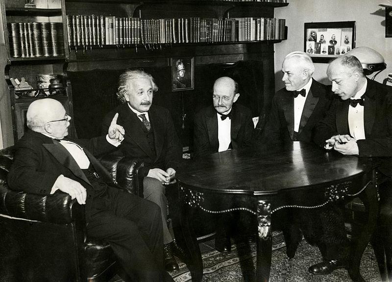 Early Quantum Physicists Nernst_Einstein_Planck_Millikan_Laue_in_1931