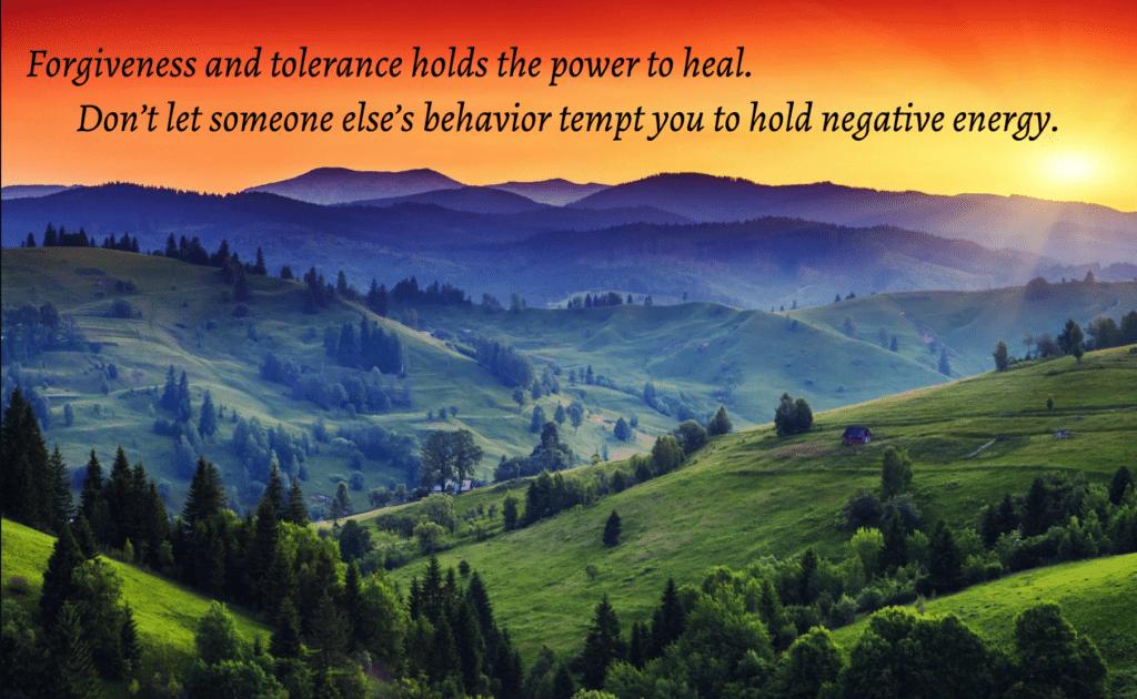 Forgiveness and Tolerance