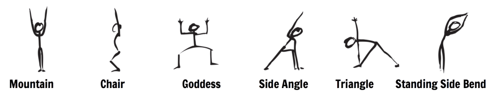 1st Chakra Root chakra yoga poses