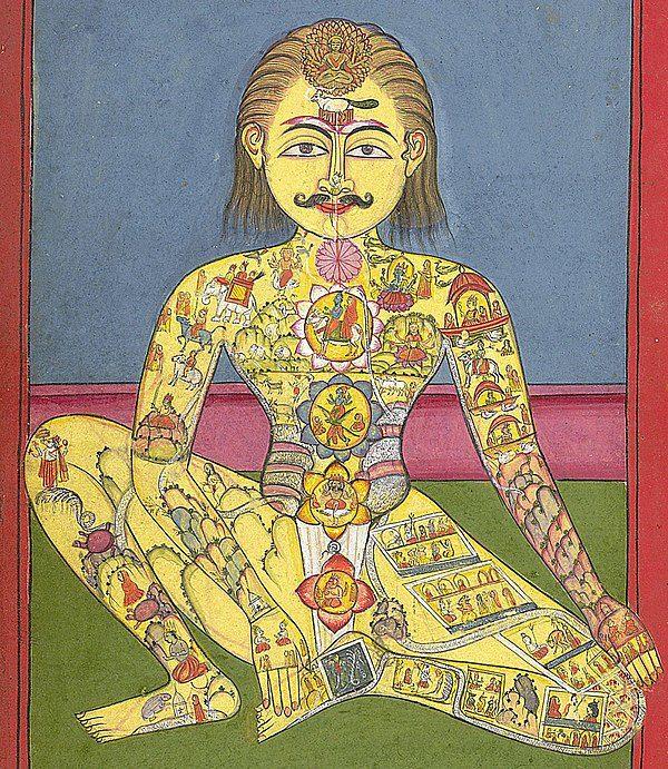 7 chakras Ancient depiction